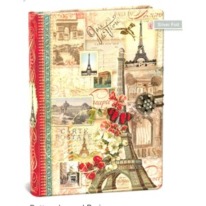 """Paris"" Button Journal"