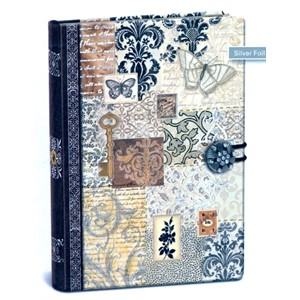 """Swirls"" Button Journal"