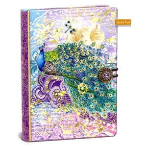 """Peacock"" Button Journal"