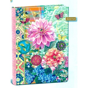 """Pink Flower"" Button Journal"