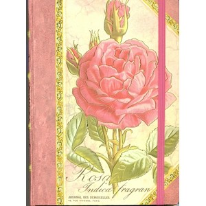 """Pink Rose"" Hardback Journal"