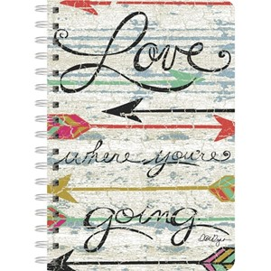 """Love Where You Go"" Spiral Journal"