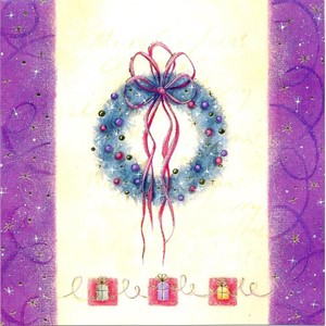 """Tree & Wreath"", 12 Luxury Christmas Cards"