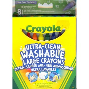 """Crayola"" Ultra-Clean Washable 8 Large Crayons"