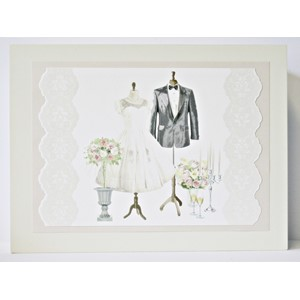 """Bride & Groom"" Keepsake-box i tre"