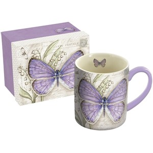 """Lavender Butterfly"" Krus 4,14 dl (14 oz)"