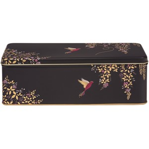 """Sara Miller - Dark Blue Bird"" Long Deep Rectangular Tin"