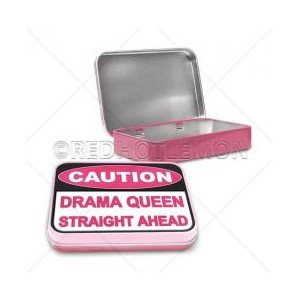 """Caution Drama Queen"" Keepsake Tin"