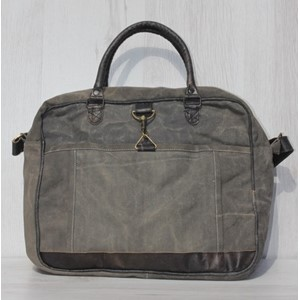 "Laptop Bag ""Plain Black/Wash"""