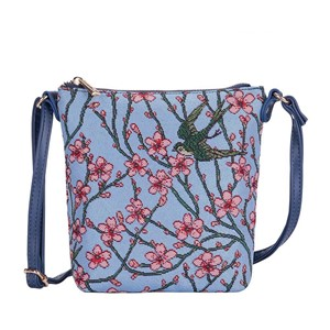 "Sling Bag Premium ""Almond Blossom and Swallow"""