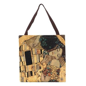 "Gusset Bag ""ART-Klimt-Gold Kiss"""
