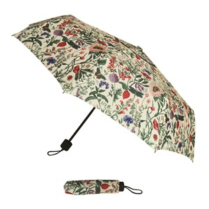 "Straight Handle Folding Umbrella ""Morning Garden"""